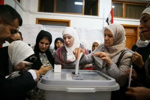 """Hosein Zohrevand. """"Presidential election in Damascus."""" Wikimedia Commons, 3 June 2014."""