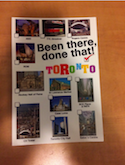 Postcard that reads 'Been there, done that! Toronto'