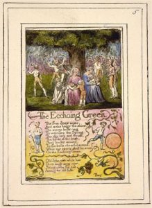 """""""The Echoing Green"""" by William Blake as an example of how to look at visual poetry"""